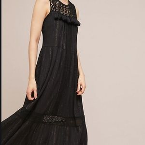 Maeve Black, Sleeveless Maxi with Tassles on Front